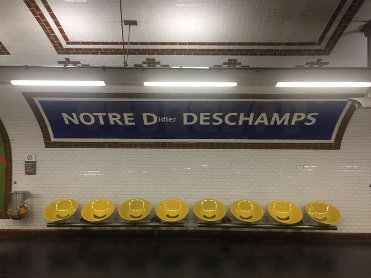 Statia de metrou Notre Dame des Champs din Paris a fost botezata temporar Notre Didier Deschamps