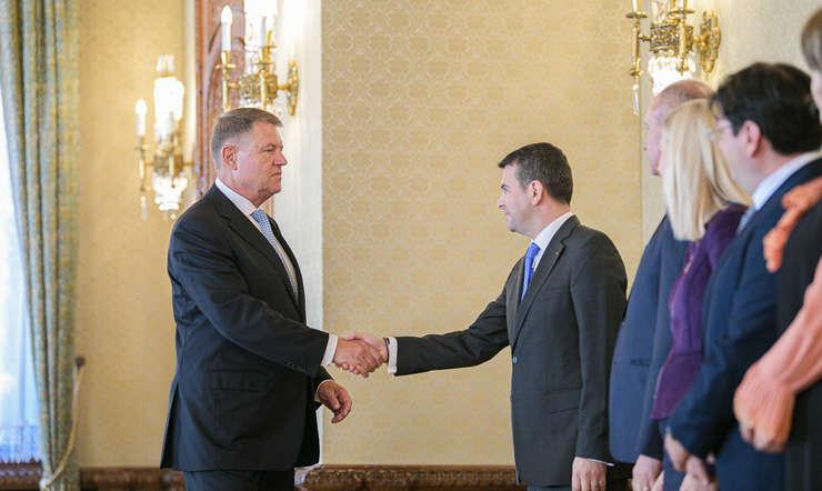 Klaus Iohannis și delegația Pro România, la Cotroceni (Sursa foto: presidency.ro)