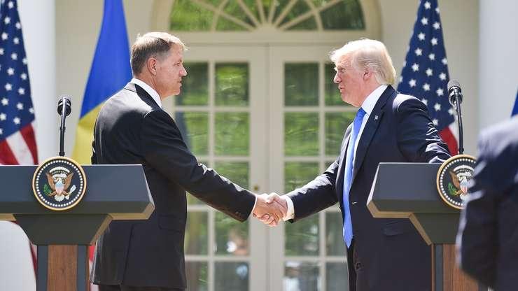 Klaus Iohannis şi Donald Trump, la Casa Albă (Sursa foto: www.presidency.ro)