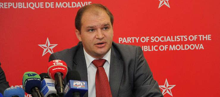 Ion Ceban, unul dintre liderii socialiștilor, partidul Președintelui Igor Dodon, la o conferinta de presa