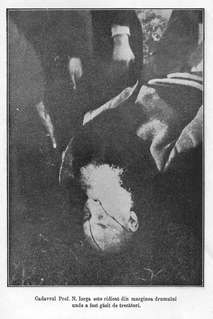 Cadavrul lui Nicolae Iorga