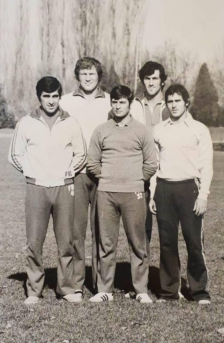 Valeriu Irimescu cu internaționali în 1976