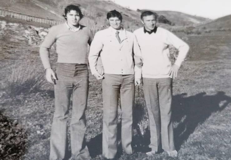 Irimescu (centru), cu Mircea Paraschiv (stânga) și Gheorghe Nica