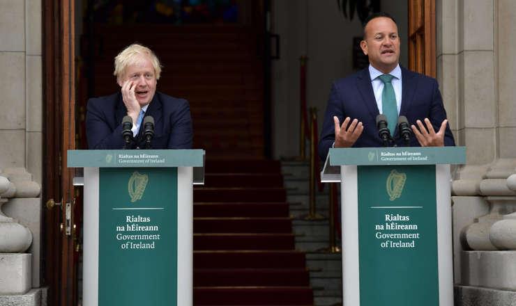 Prim miniștrii Regatului Unit și Republicii Irlanda, Boris Johnson și Leo Varadkar