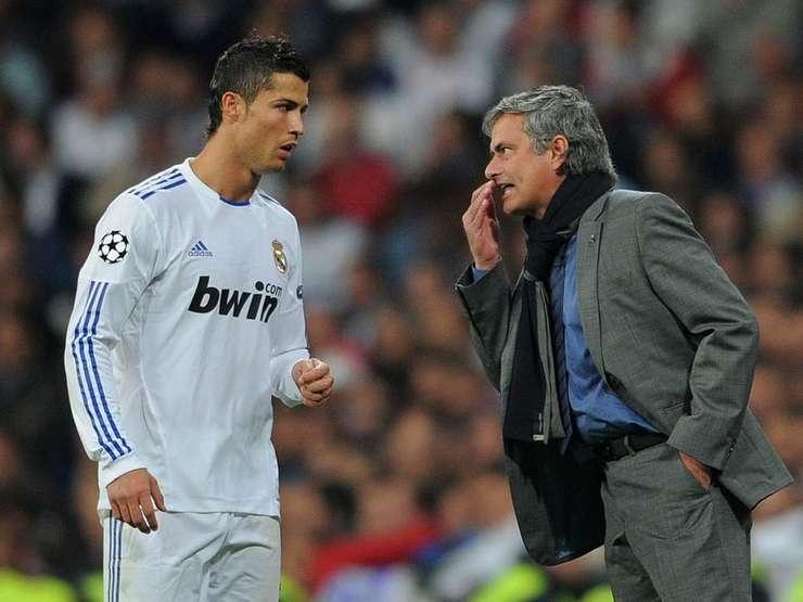 Jose Mourinho și Cristiano Ronaldo