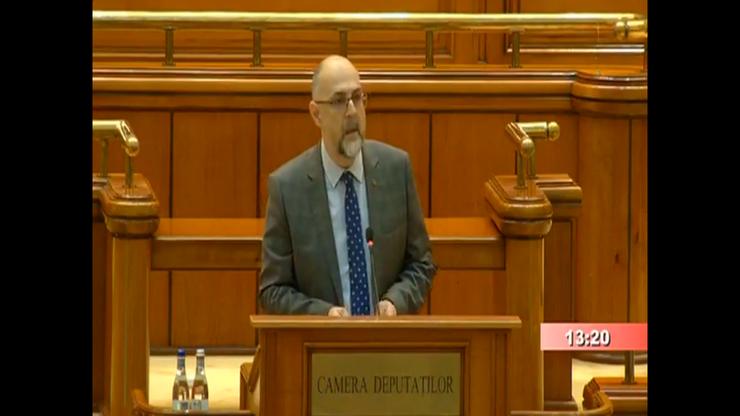 Kelemen Hunor, în Parlament (captură video)