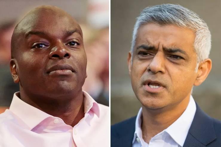 Shaun Bailey (stânga) și Sadiq Khan