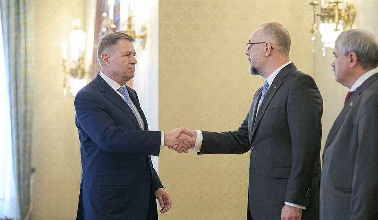 Klaus Iohannis, consultări cu delegația UDMR (Sursa foto: presidency.ro)