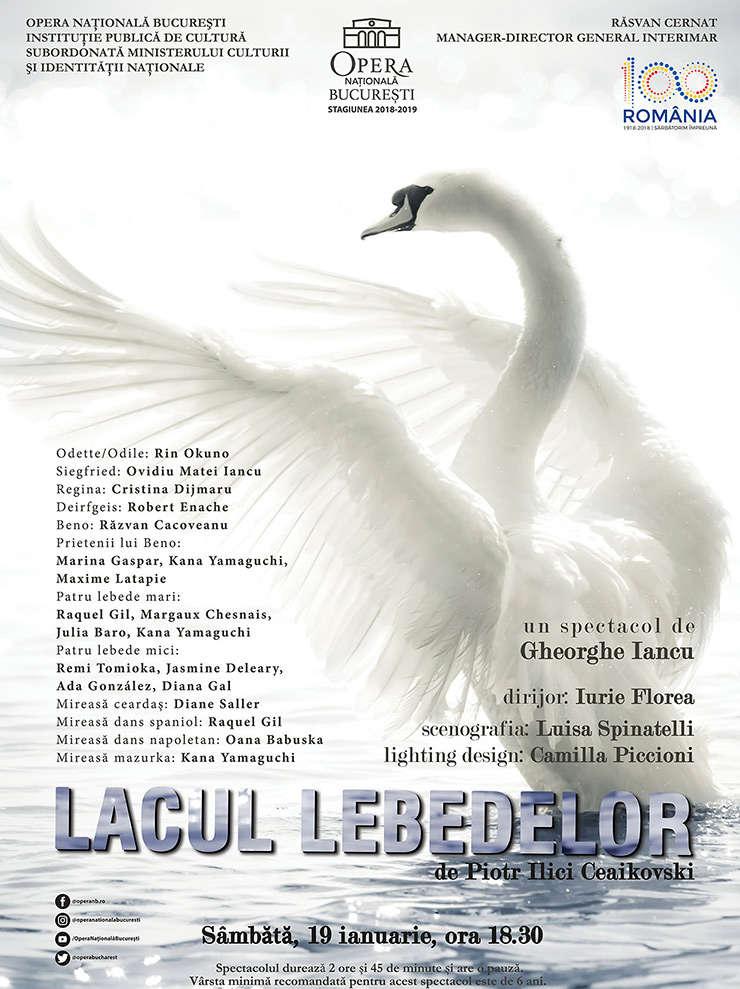 "Afis ""Lacul Lebedelor"""