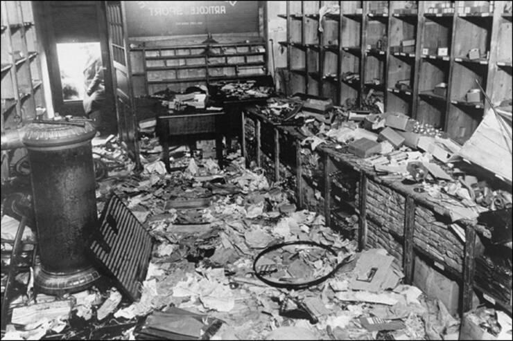 Magazin evreiesc devastat în ianuarie1941