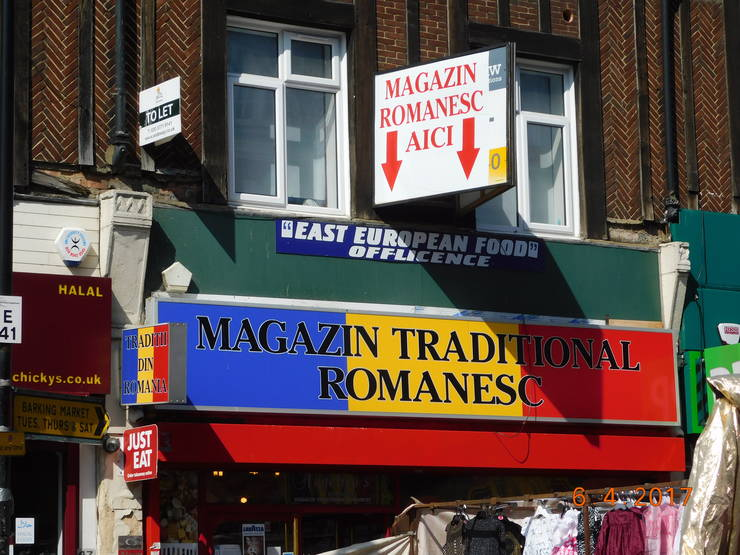 Magazin românesc din estul Londrei