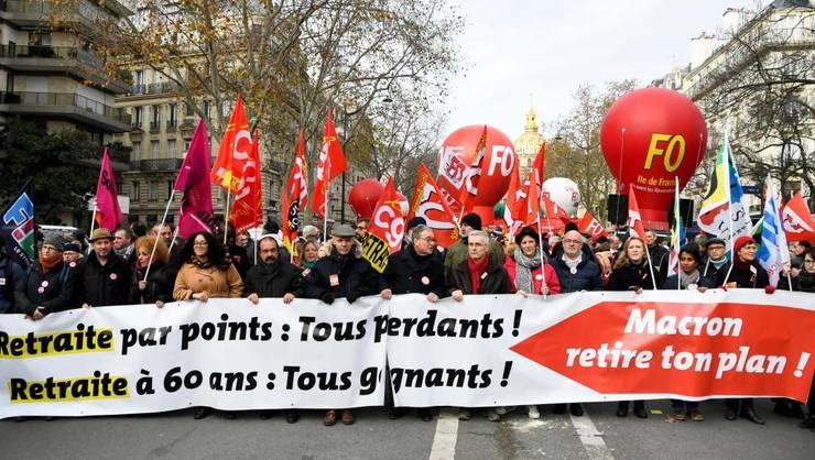 Manifestatie împotriva reformei pensiilor, Paris, 10 decembrie 2019.