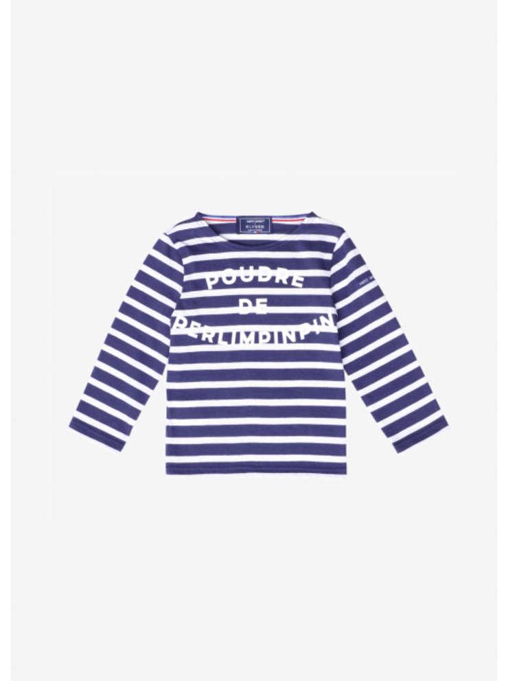 Tricou ce contine o celebra expresie franceza 'Poudre de Perlimpinpin' si vândut în magazinul Palatului Elysée