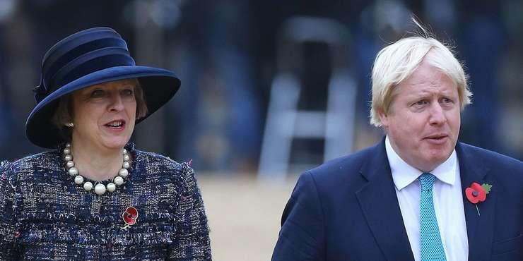 Theresa May și Boris Johnson