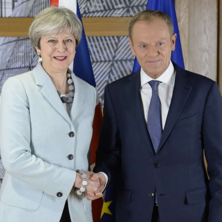 Theresa May cu Donald Tusk