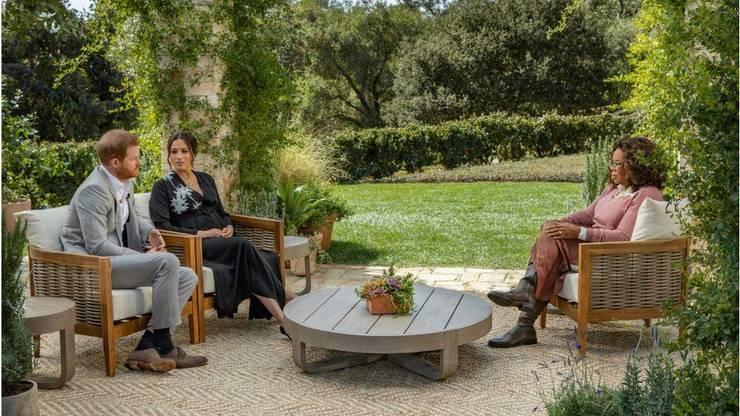 Prințul Harry și soția sa Meghan intervievați de Oprah Winfrey