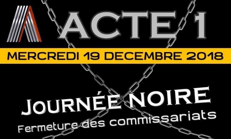 Mobilizare lansata pe Facebook de Alliance Police Nationale - unul dintre cele mai puternice sindicate ale politistilor din Franta.