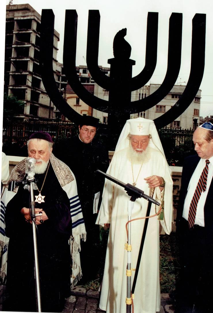 Moses Rosen și Patriarhul Teoctist