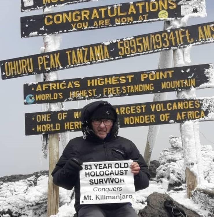 Nat Shaffir pe vârful Kilimajaro