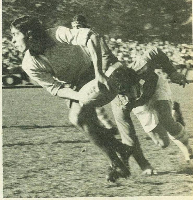 Paraschiv în turneu în Noua Zeelandă în 1975