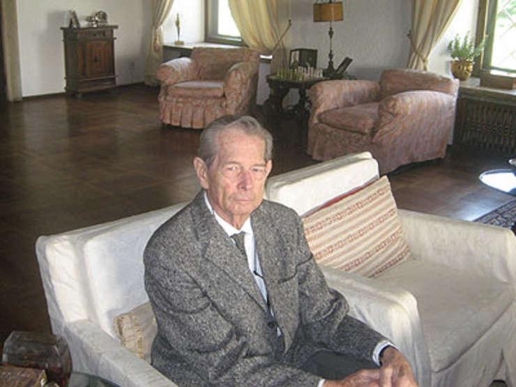 Regele Mihai în iunie 2008 la Palatul Elisabeta