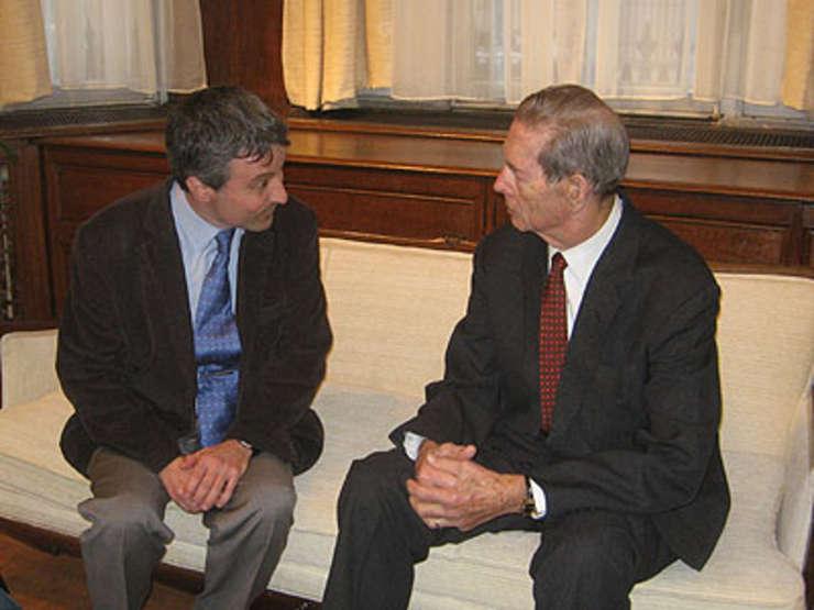 Regele Mihai cu Petru Clej în noiembrie 2008