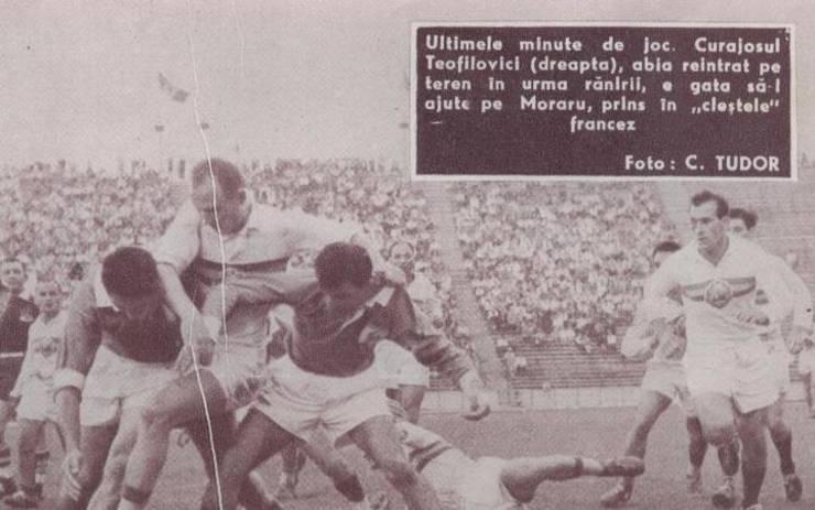 Alex Teofilovici în meciul cu Franța din 1960