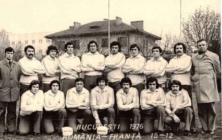 Echipa României care a învins Franța în 1976