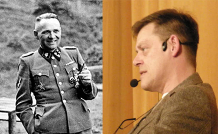 Rudolf Hoss, comandant Auschwitz și nepotul său, Reiner.