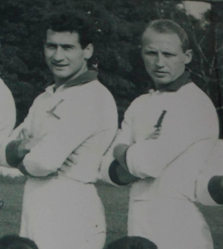 Mircea Rusu (stânga) și Viorel Morariu