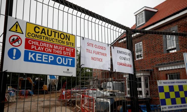 Șantier construcții UK