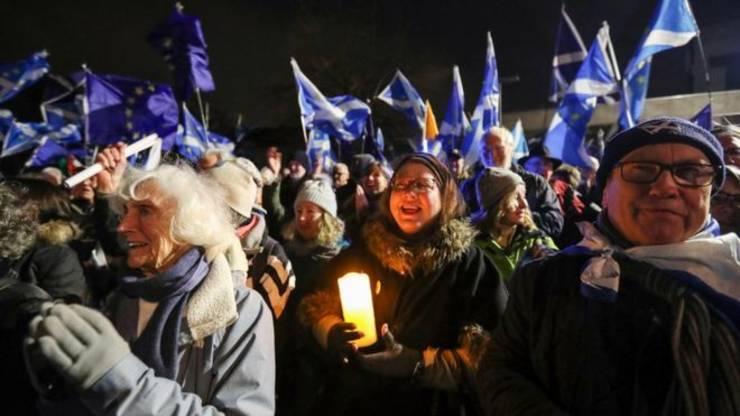 Manifestație pro-UE în Scoția