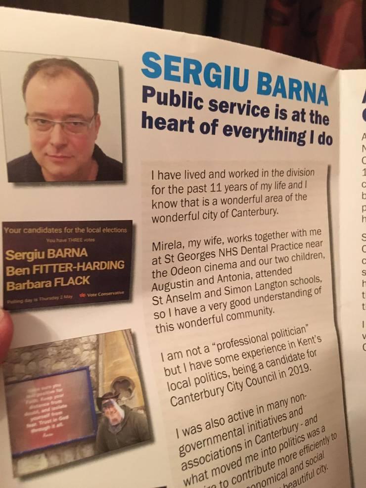 Publicitate electorală Sergiu Barna