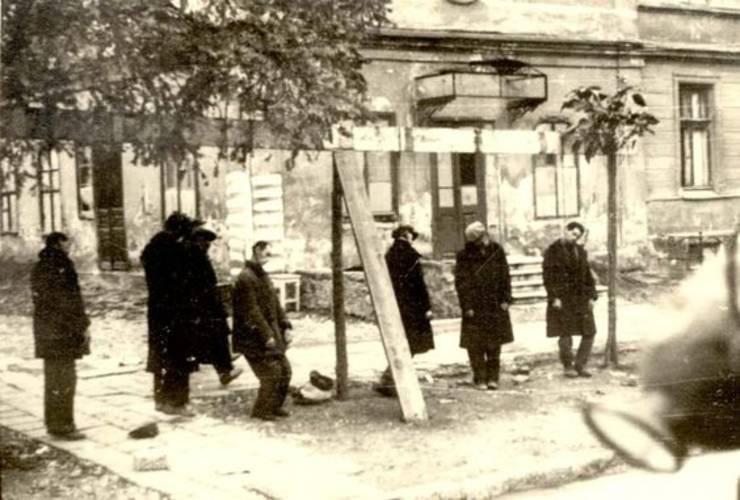 Evrei spânzurați la Odessa, octombrie 1941