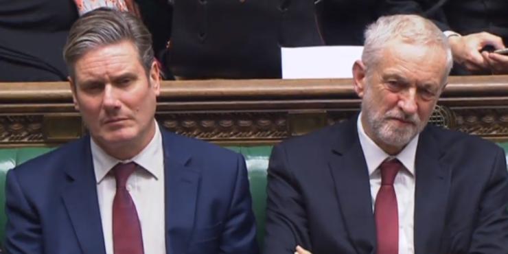 Keir Starmer și Jeremy Corbyn