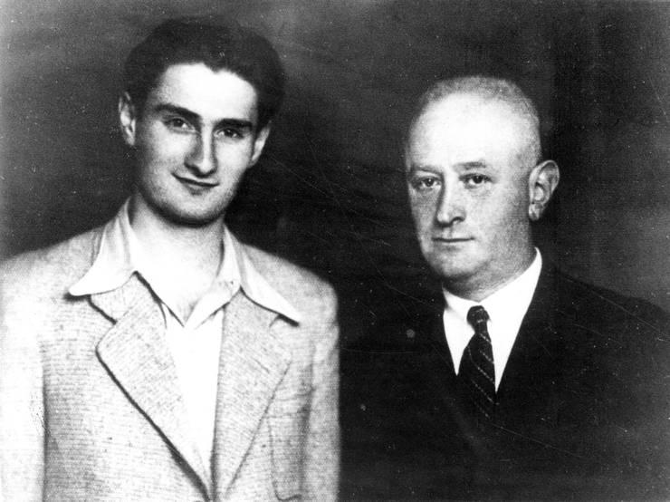 David Stoliar și tatăl său