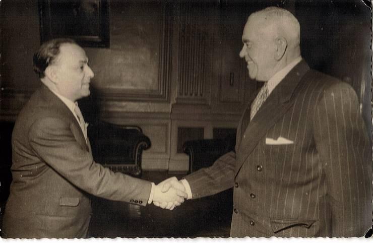 N. Stroe cu Petru Groza