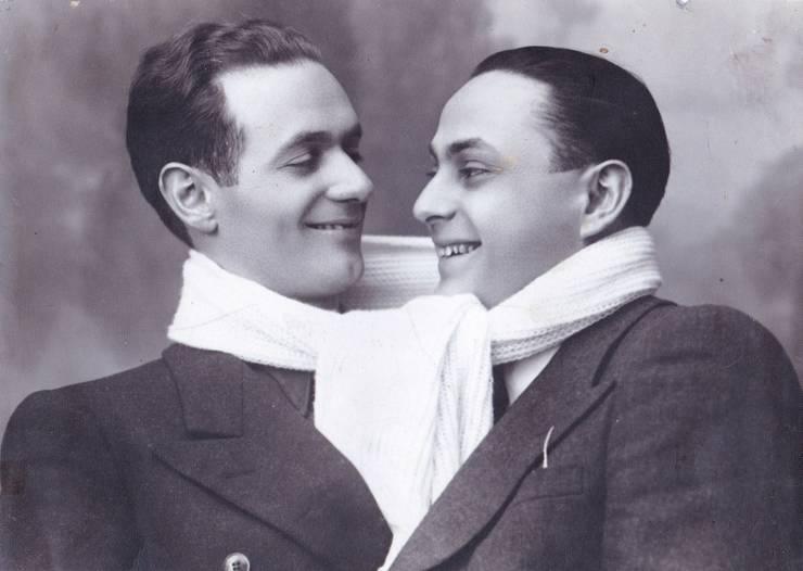 N. Stroe (dreapta) și Vasile Vasilache