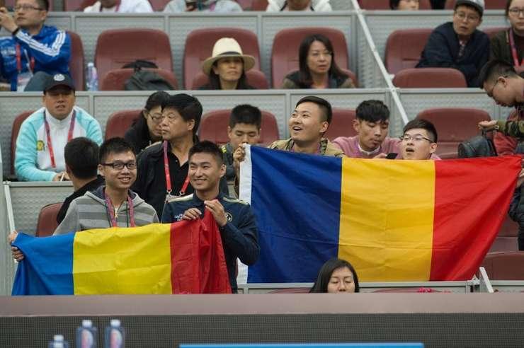 Suporteri chinezi ai Simonei Halep, la turneul de la Beijing (Foto: AFP/Nicolas Asfouri)