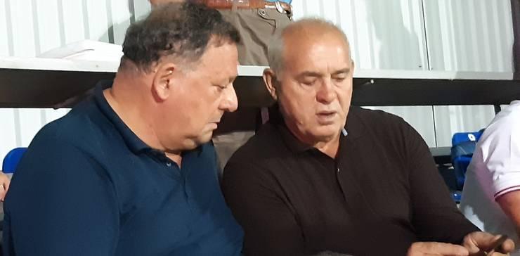 Christian Thau (stânga) și Mircea Paraschiv