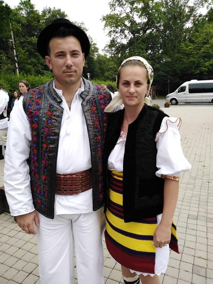 Vasile Țiplea, alături de soția sa, Ioana