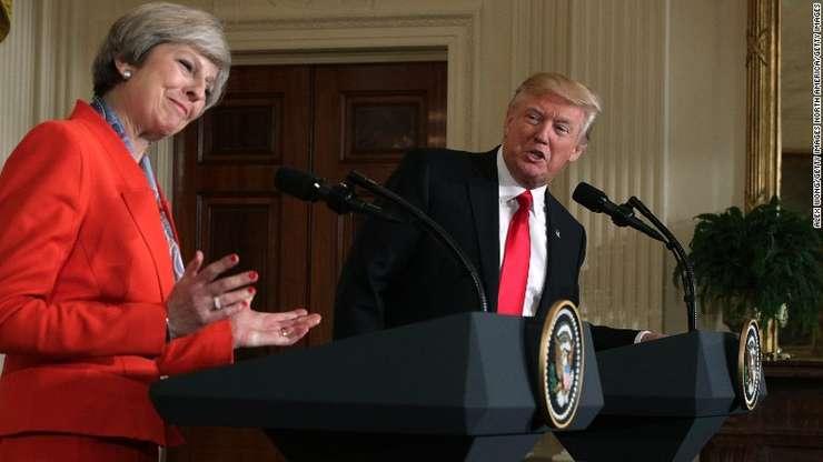 Theresa May și Donald Trump