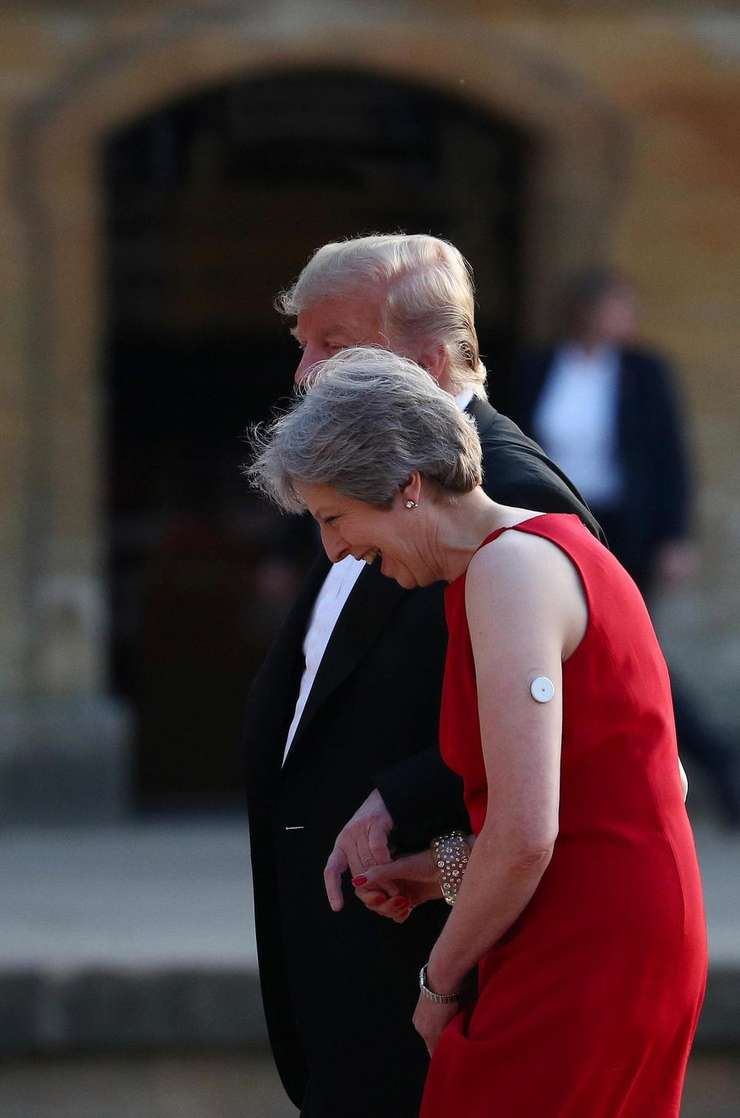 Theresa May cu Donald Trump la Palatul Blenheim