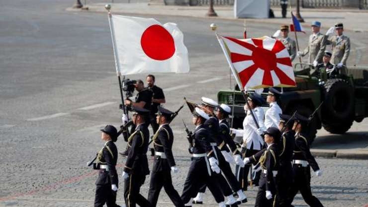 Trupele japoneze si cele din Singapore invitatele de onoare ale armatei franceze pentru 14 iulie.
