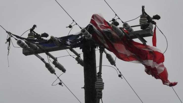 Numeroase locuinţe au rămas fără electricitate, în urma uraganului Harvey (Foto: AFP/Mark Ralston)