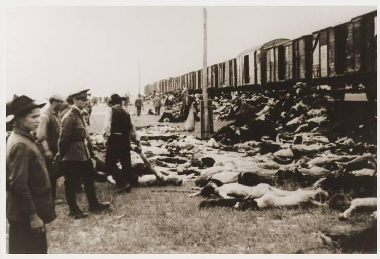 Cadavre de evrei din Trenurile Morții