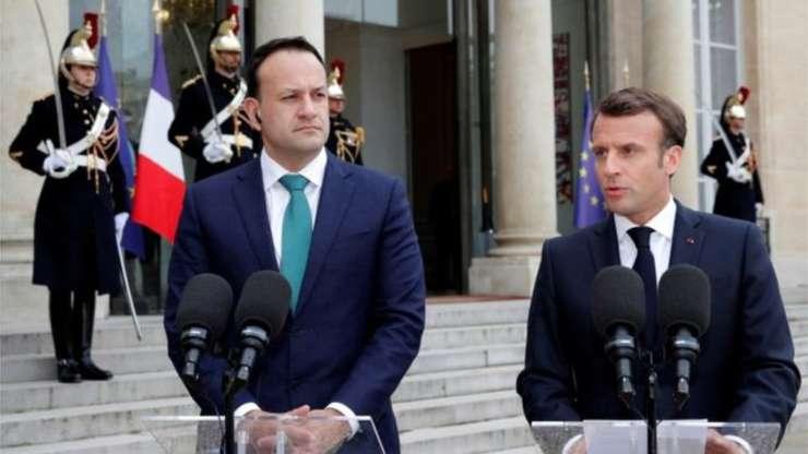 Leo Varadkar și Emmanuel Macron