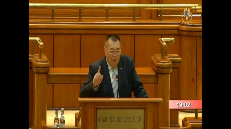 Victor Paul Dobre apără Guvernul Orban, de la tribuna Parlamentului (captură video)