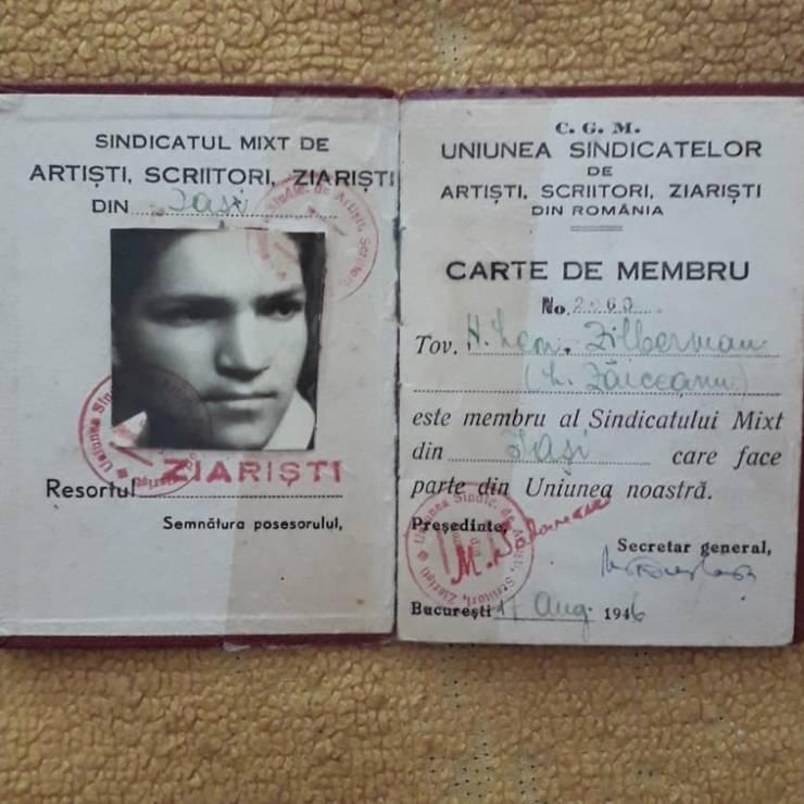 Legitimația de presă a lui Leonard Zăicescu