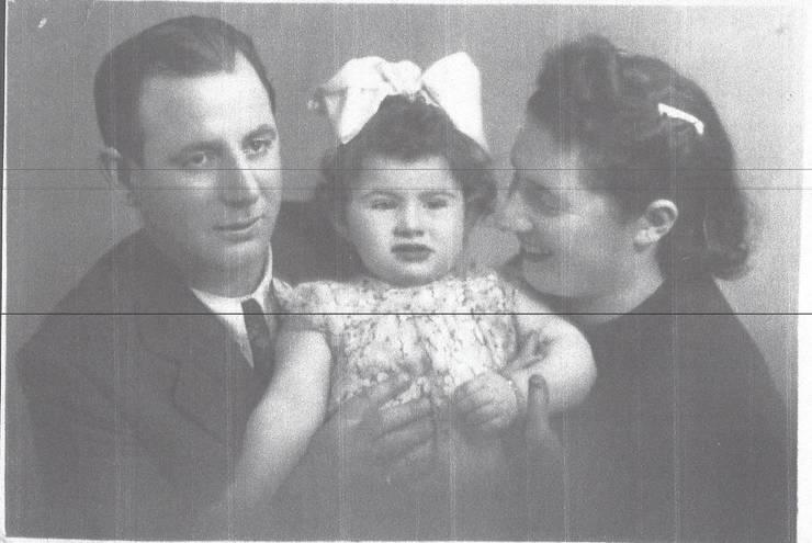 Zelina Ben Gershon cu părinții ei Malvina și Zigu Leibovici